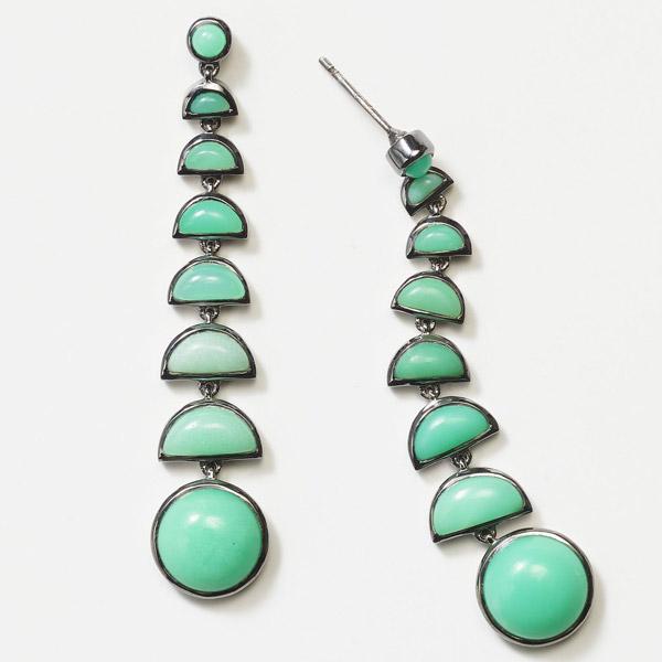 Nakard Ballbearing chrysoprase earrings