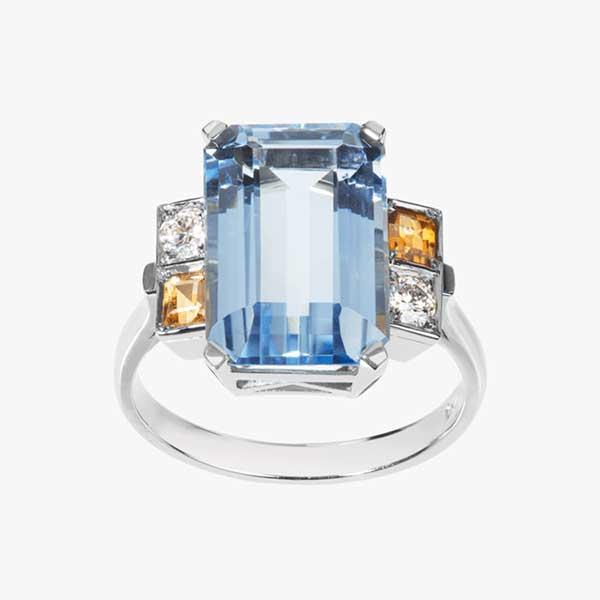Nana Fink aquamarine Liz ring