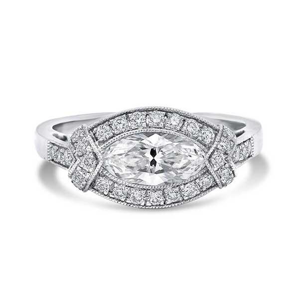 Nicole Rose marquise diamond ring