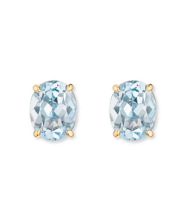 Nouvel Heritage 18k yellow gold and aquamarine earrings