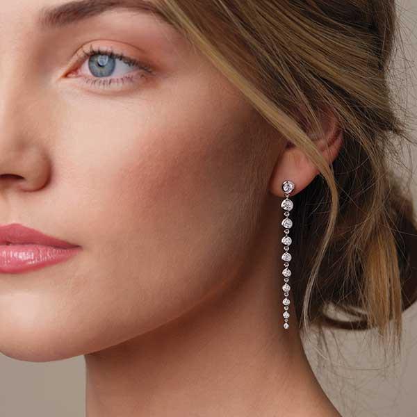 Stuller earrings for the bride