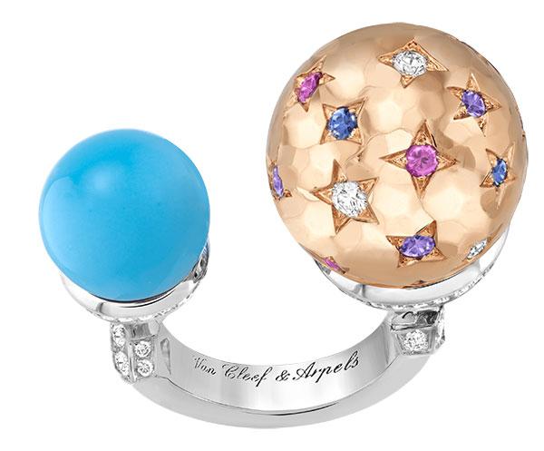 Van Cleef Arpels Galilee turquoise ring