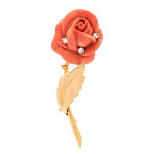 Van Cleef rose brooch