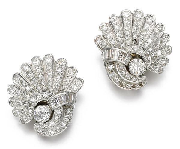 1930s earrings brooch