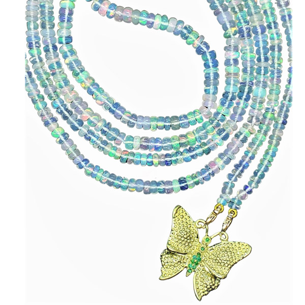 Alison Nagasue opal bead necklace