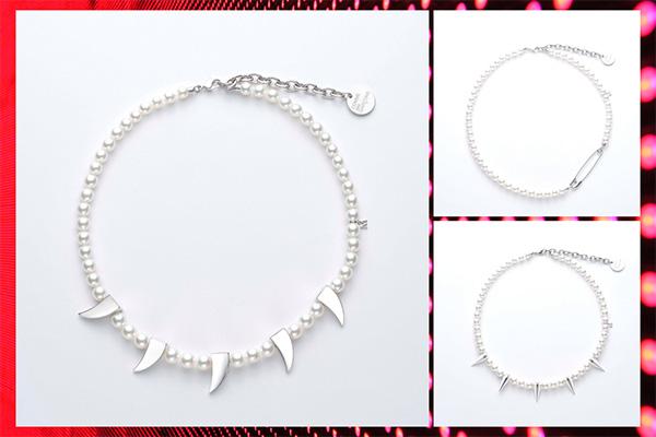 CDG Mikimoto necklaces