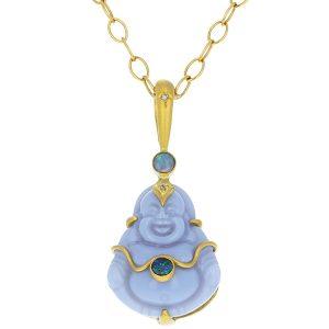 Cathy Waterman blue buddha pendant