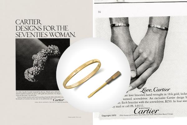 Cipullo love bracelet advertisements