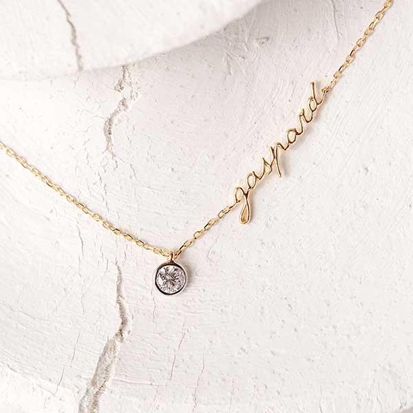Courbet personalized Original bezel-set necklace