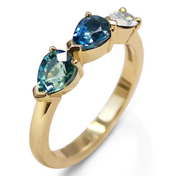 Flora Bhattachary triple pear ring