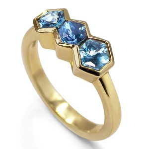 Flora Bhattachery hexagon ring