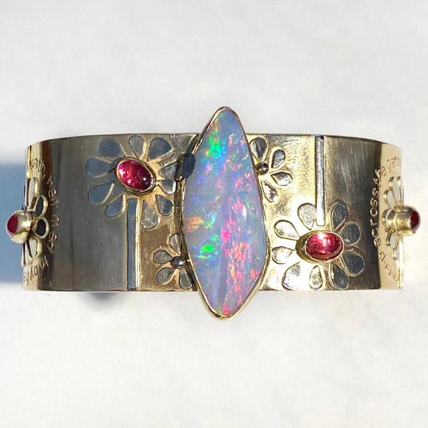 Jen Volkodav opal cuff bracelet
