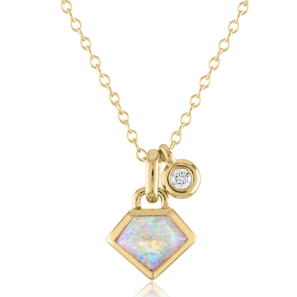 Julie Lamb opal Super Charming necklace