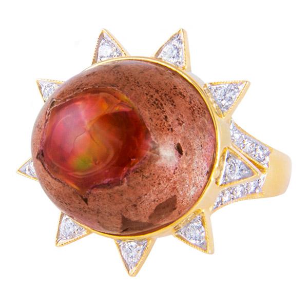 M Spalten opal burst ring