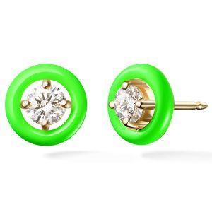 Melissa Kaye Sylvie stud earrings