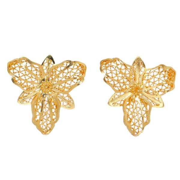Mon Divine Orchid filigree earrings