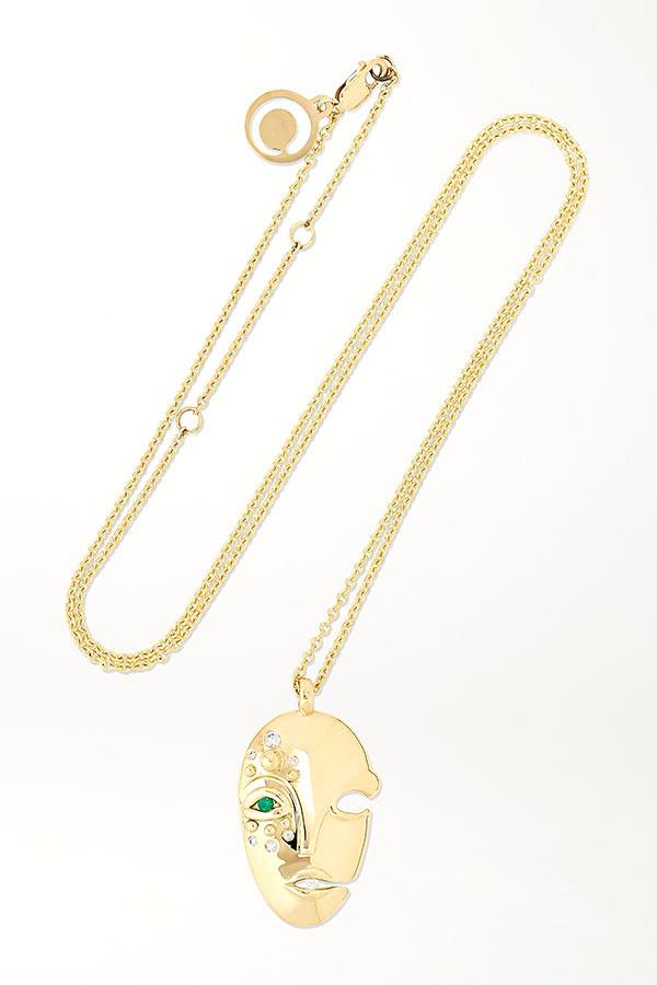 Muzo Khiry mask necklace