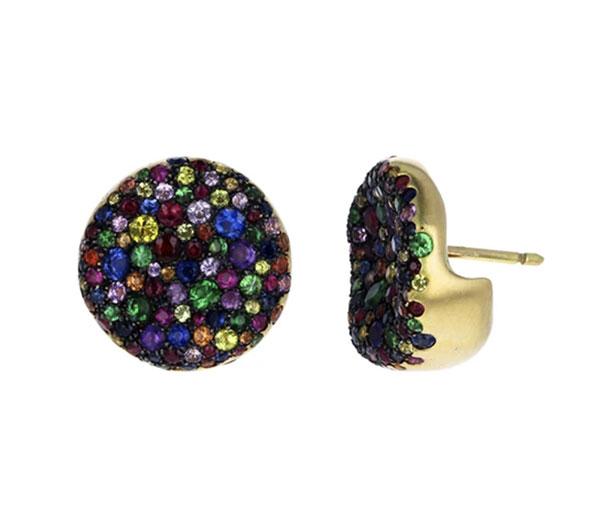 Nada Ghazal rainbow sapphire Bonbon earrings