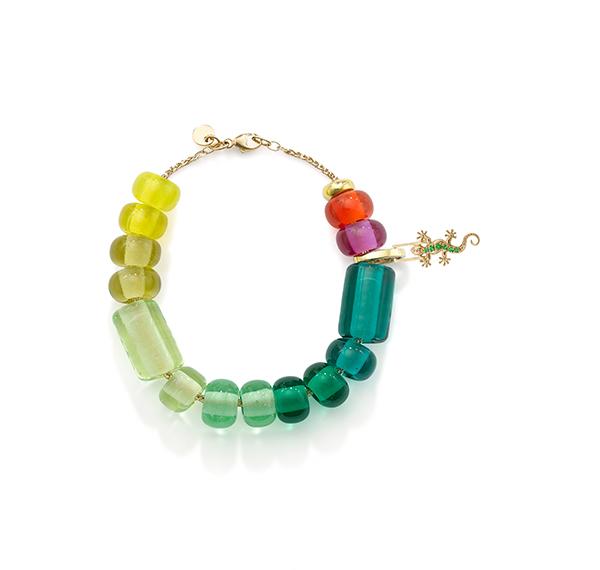 Robinson Pelham Arcadia ombre green bracelet