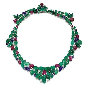 Sothebys Mountbatten emerald necklace