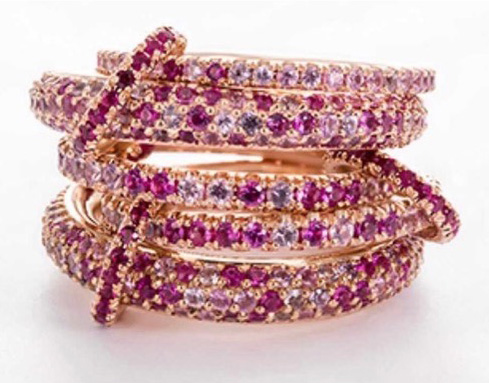 Spinelli Kilcollin pink rings