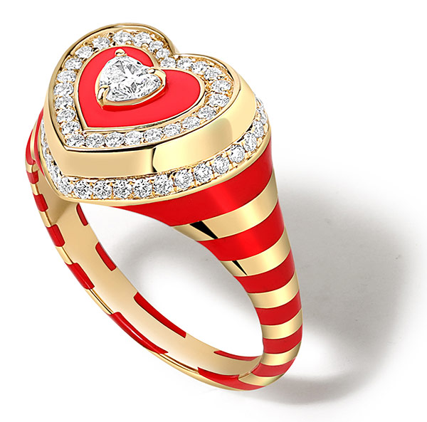 State Property Red Heart ring