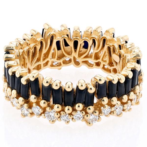 Suzanne Kalan black sapphire diamond band
