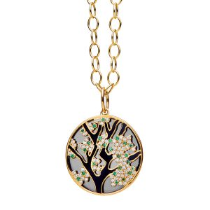 Syna Cherry Blossom pendant silver