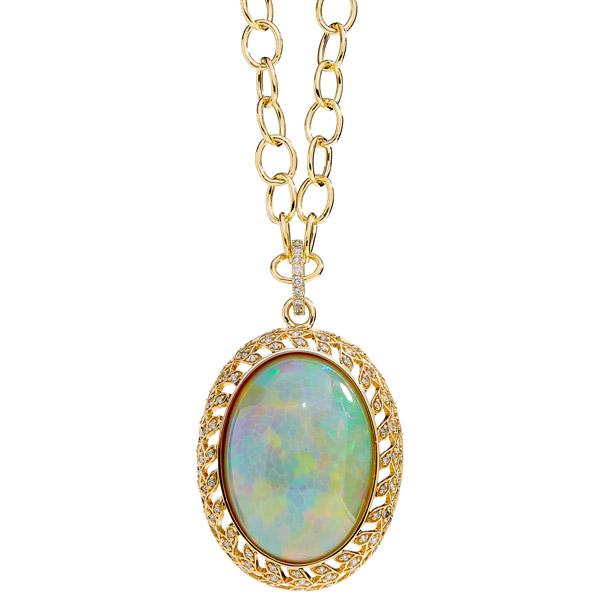 Syna Jewels Mogul opal pendant