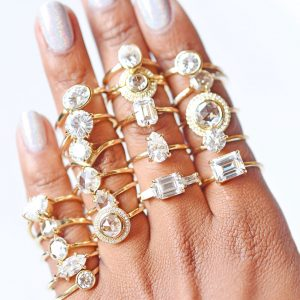 Valerie Madison handful of rings