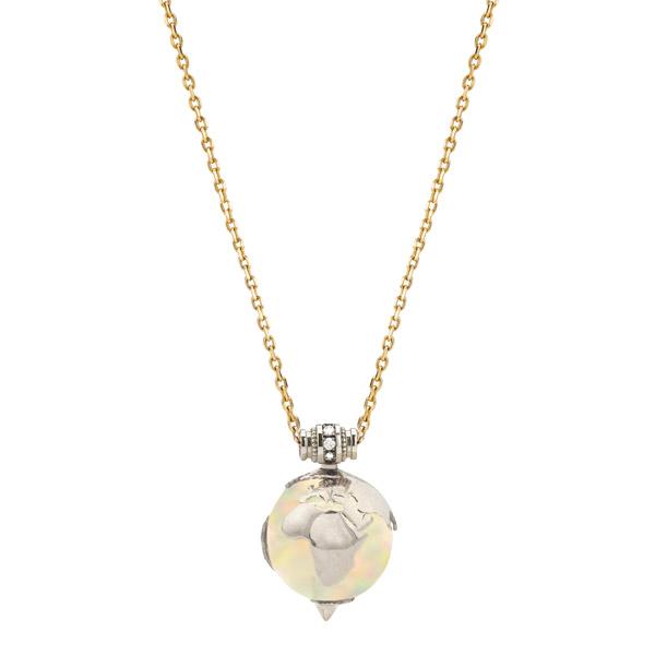 Venyx opal Earth necklace