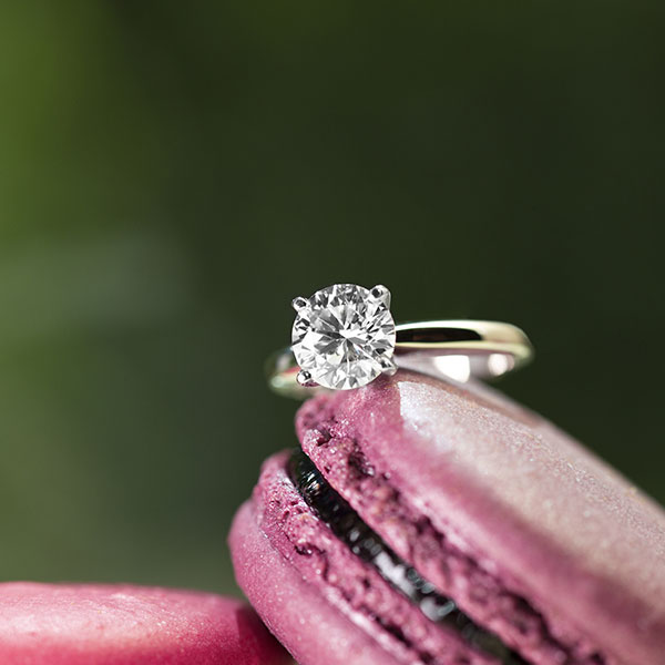WD Diamonds lab-grown solitaire ring