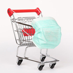 mask shopping cart