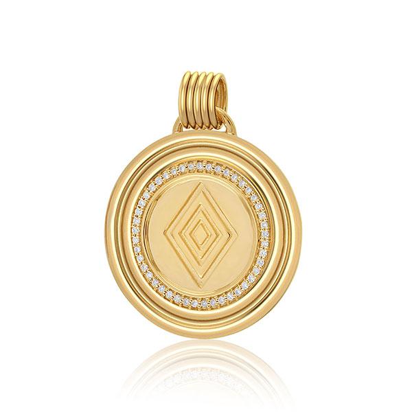 Almasika gold medallion