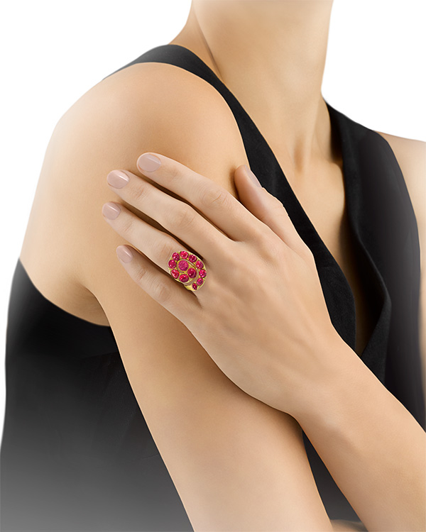 Alexander Calder ruby ring at Ms Rau