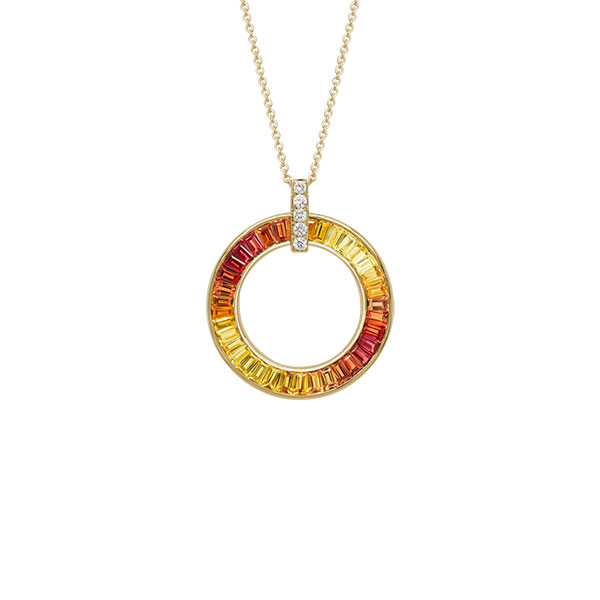Artistry Sunset Sapphires pendant