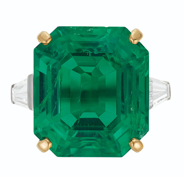 Christies Cartier emerald ring