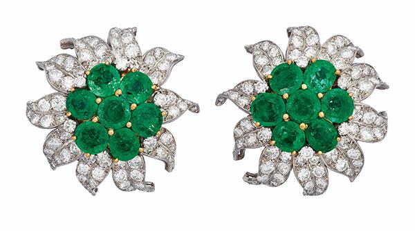 Christies Van Cleef Arpels earrings