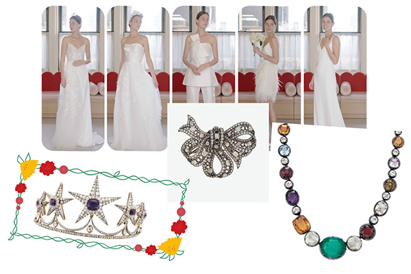 Christies Lela Rose gowns and jewels