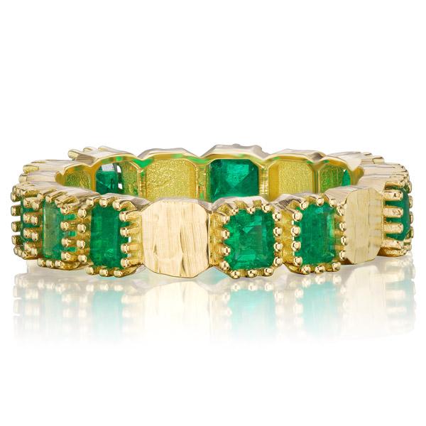 Dana Bronfman emerald hammered band