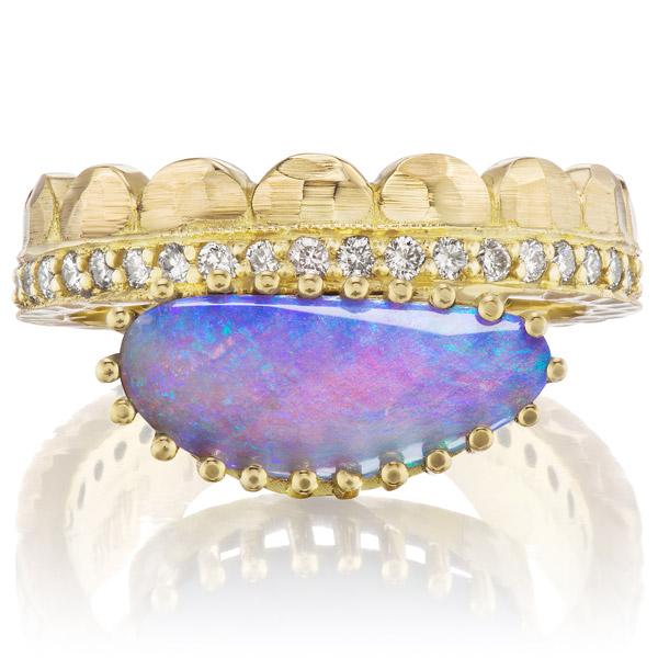 Dana Bronfman half moon opal ring