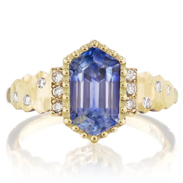 Dana Bronfman sapphire hex ring