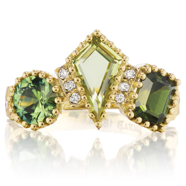 Dana Bronfman three fancy greens ring
