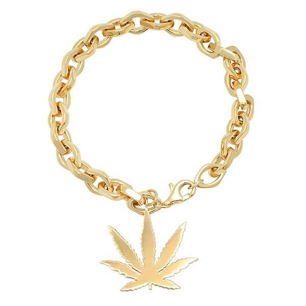 Established cannabis gold bracelet