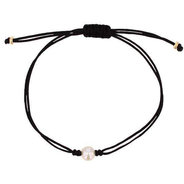 Grace Lee pearl silk bracelet
