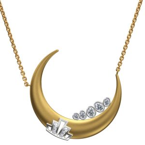 Jessie VE Fam on the Moon necklace