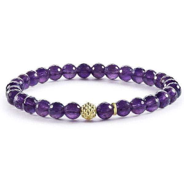 Lagos amethyst bead bracelet