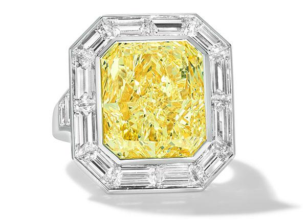Le Vian platinum yellow diamond ring