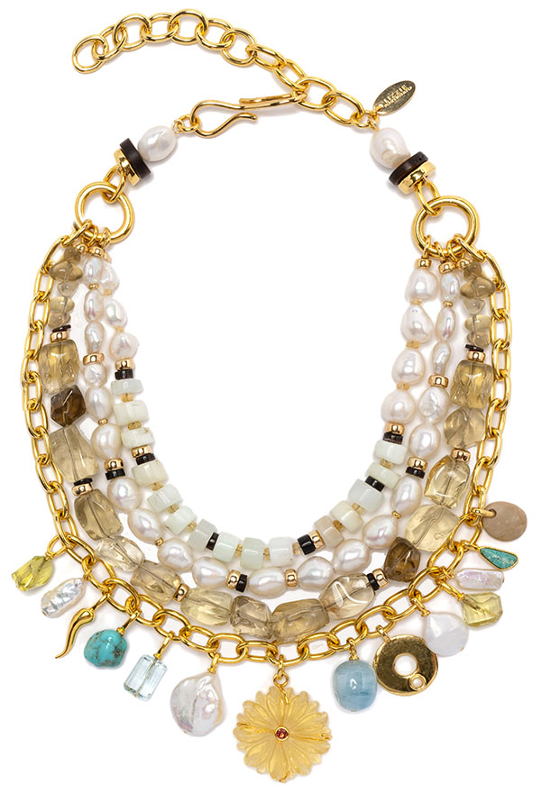 Lizzie Fortunato Golden EyeNecklace
