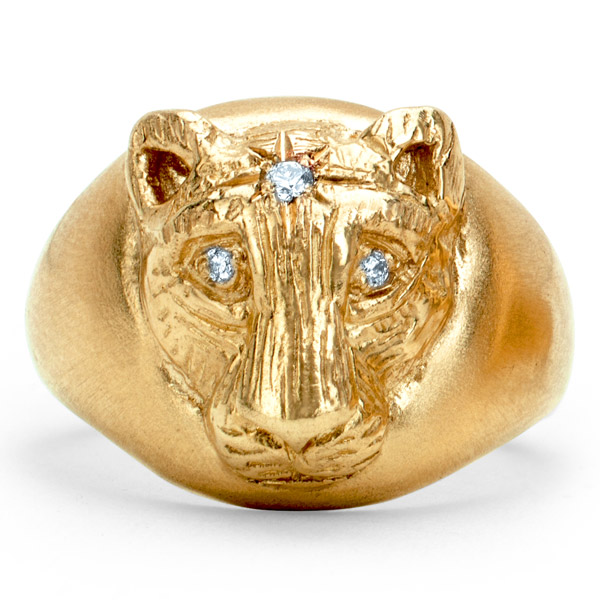 Logan Hollowell baby lioness signet ring